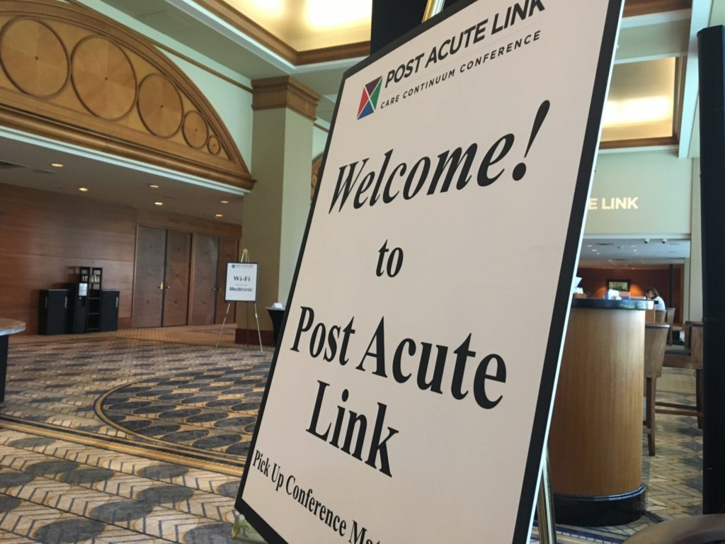 Sign that says Welcome to Post Acute Link